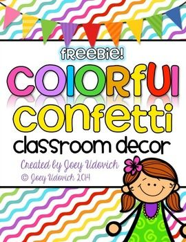 Colorful Classroom Decor FREEBIE