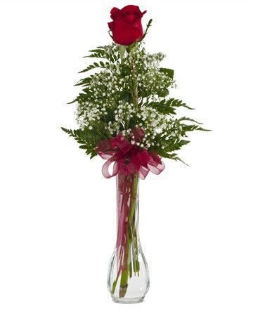 Royer's flowers & gifts: Single Rose Bud Vase - Flowers, Plants, Gift Basket Delivery for all occasions at royers.com