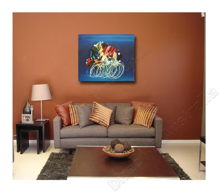 Speed abstract art canvas painting interior wall art decor
