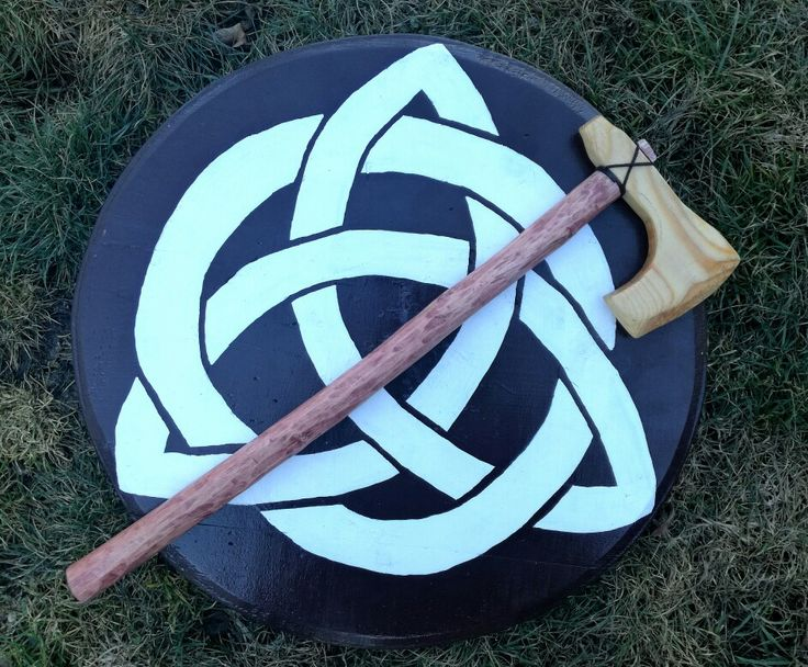 Red Wood Viking Axe.