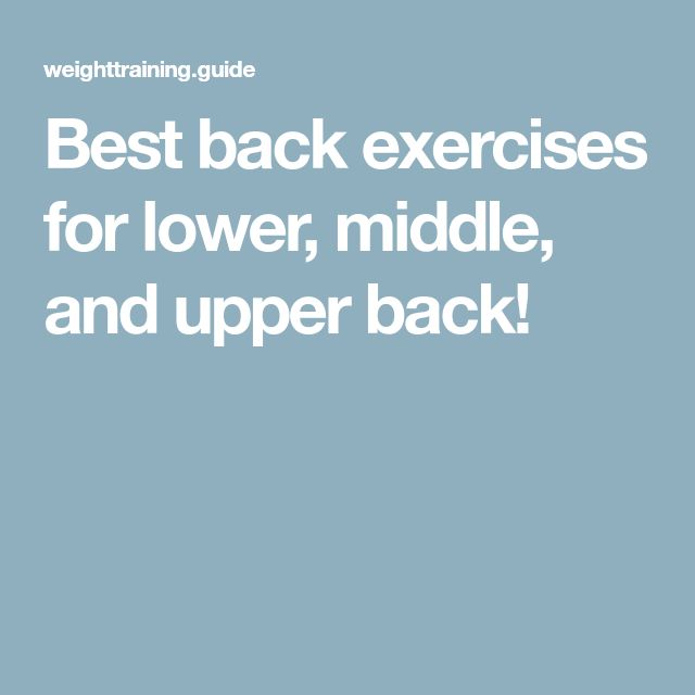 Best back exercises for lower, middle, and upper back!