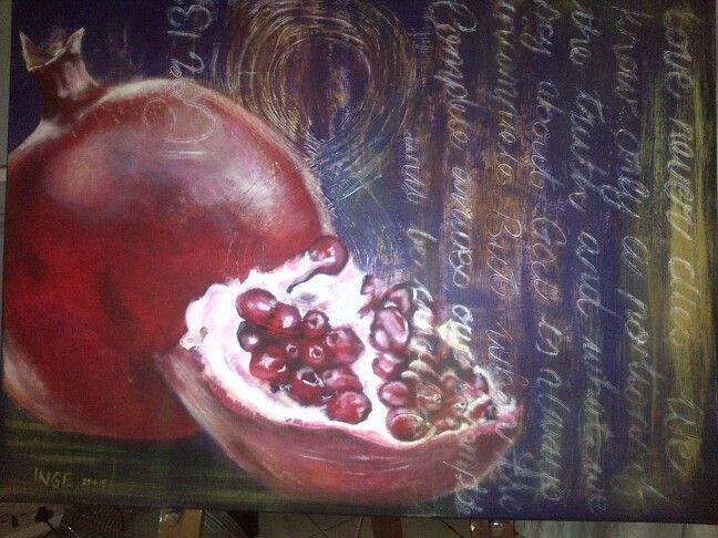 "Inge du Preez:  ""Perfect Love"" Acrylic on canvas"