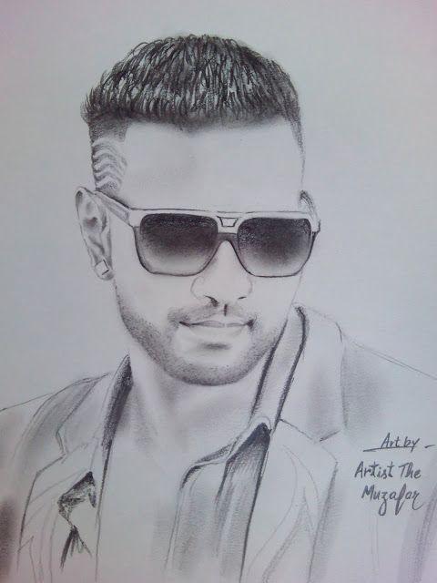 GIRIK AMAN sketch by artist the muzafar