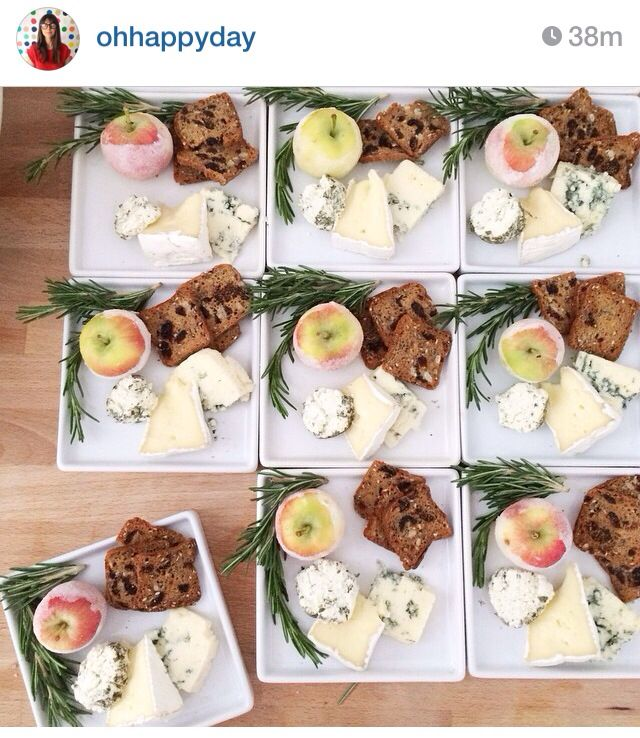 Inidual cheese plates via Oh Happy Dayu0027s Instagram  sc 1 st  Pinterest & 60 best cheese board images on Pinterest   Cheese platters Wine ...