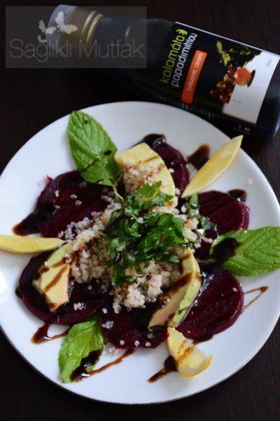 Kalamata Papadimitriou Balsamik Soslu, Kinoa ve Avakadolu Pancar Salatası – Sağlıklı Mutfak