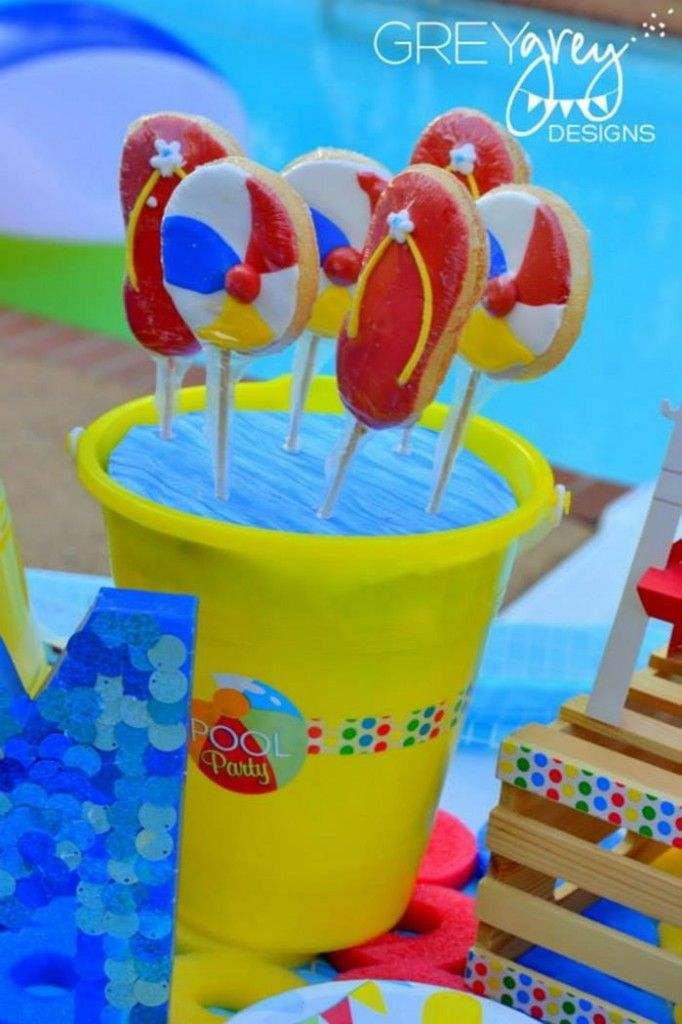 Pool Party Centerpiece Ideas pool party centerpiece made by aitana Pool Party Ideas