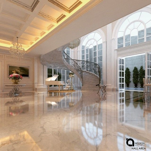 Mansion hall #nelsonarchitects  #interior #instagood #instadecor #instadesign #residence #interiordesign #decor #archilovers #architexture #architectureporn #architecturelovers #design #designer #luxury #archiporn #architect #mansion