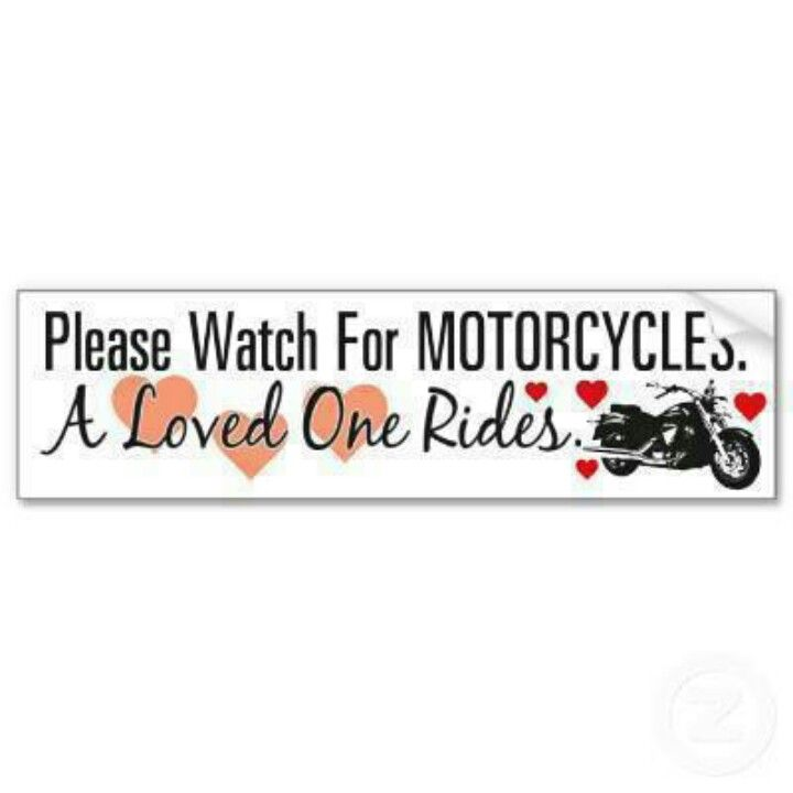 Best MOTORCYCLE AWARENESS Images On Pinterest Motorcycles - Custom motorcycle bumper stickers awareness