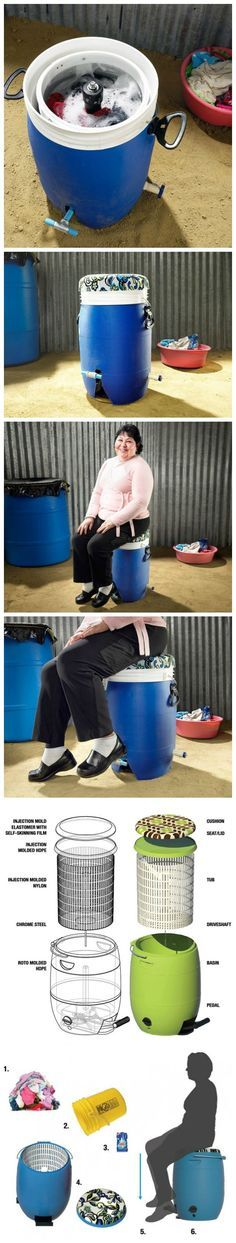 Pedal-Powered Washer Needs No Electricity and Costs Only $40