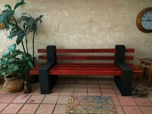 Cinder block bench dyi pinterest cinder blocks more for D i y garden bench designs