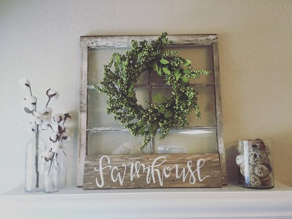 Farmhouse sign, farmhouse style, farmhouse decor, rustic decor, shabby chic decor, farm sign, rustic signage, reclaimed wood sign