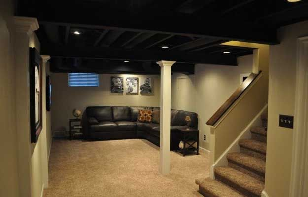 17 best images about home improvement on pinterest home cubicles and garage - Low ceiling basement ideas ...