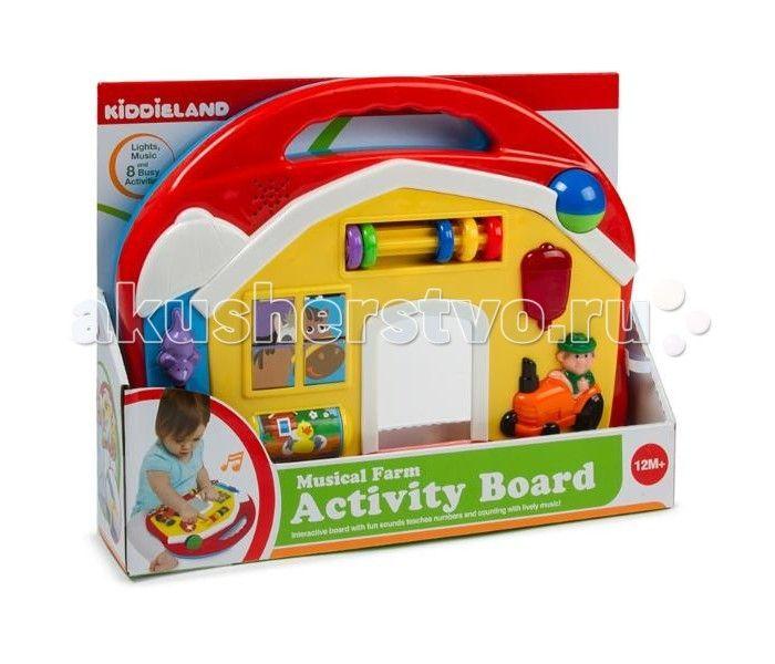 Развивающая игрушка Kiddieland Музыкальная ферма  Развивающая игрушка Kiddieland Музыкальная ферма станет для ребенка интересным и любимым инструментом в играх. Во время контакта с игрушкой, ребенок будет прослушивать разные мелодии, которые поднимут ему настроение, а также разовьют у него музыкальный слух и интерес в музыке.  Игрушка снабжена звуковыми и световыми эффектами и позабавит кроху веселыми мелодиями и мигающими огоньками.  Батарейки 2 х АА (в комплекте).