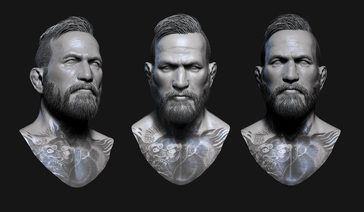 UFC Champ Conor Mcgregor, Michael Gonsalves on ArtStation at https://www.artstation.com/artwork/ufc-champ-conor-mcgregor