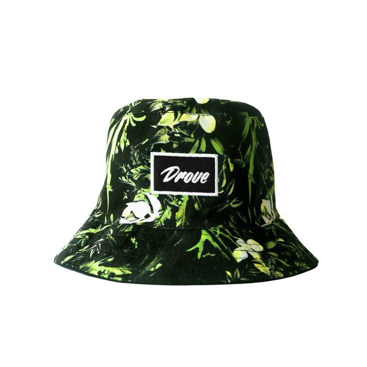 Bucket Textura Negro y Verde