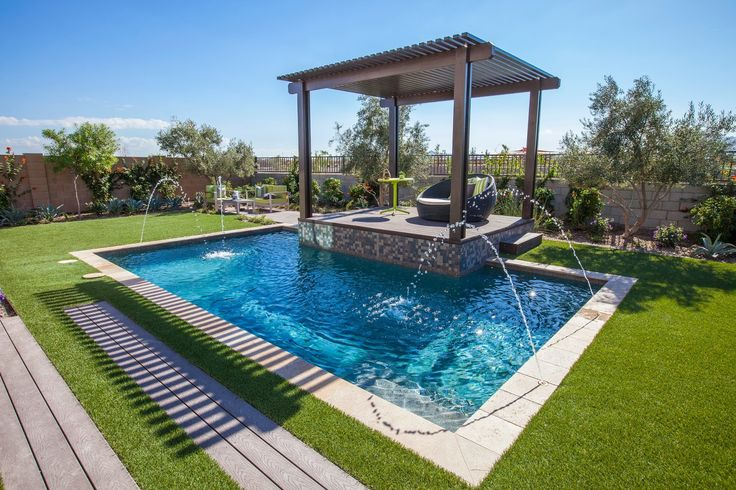 A 39 spool 39 or small play pool might be the perfect size for my yard homespirations outdoors - My perfect pool ...
