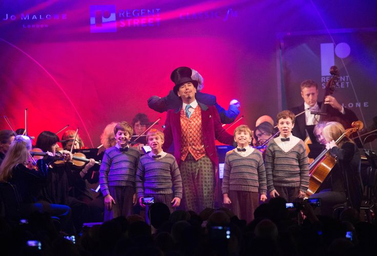 The incredible cast of Charlie and the Chocolate Factory gave an unforgettably engaging performance at the #RegentStreet #Christmas Lights switch on event.