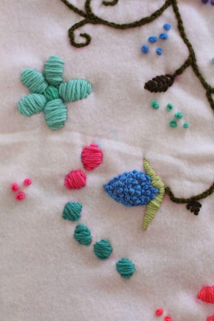 Tutorial; Cómo bordar con lana