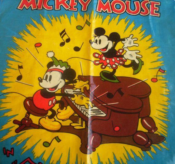 Disney  Vinyl Full Apron  Retro Disney Design  by BambleVintage