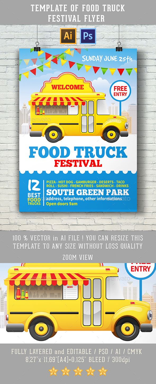 Food truck flyer template vatozozdevelopment food truck flyer template maxwellsz