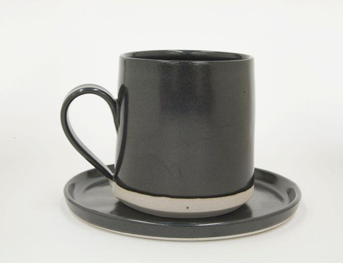 West River Field Lab Coffee Mug with Saucer