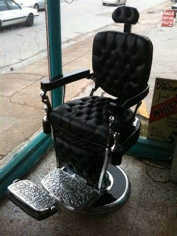 Art Deco Barber Chair - FlashBack Funtiques