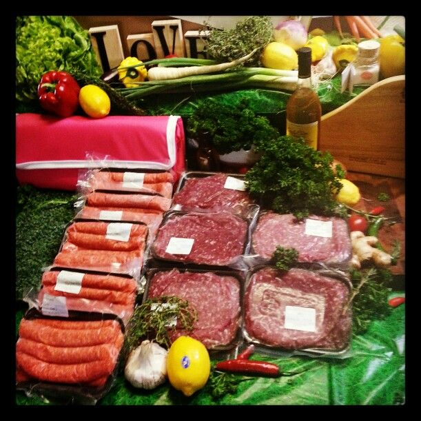 Our 5kg premium mince and sausage pack all grass fed finished hormone and antibiotic free no GMO ..paleo or gluten free available. .luv meat♥