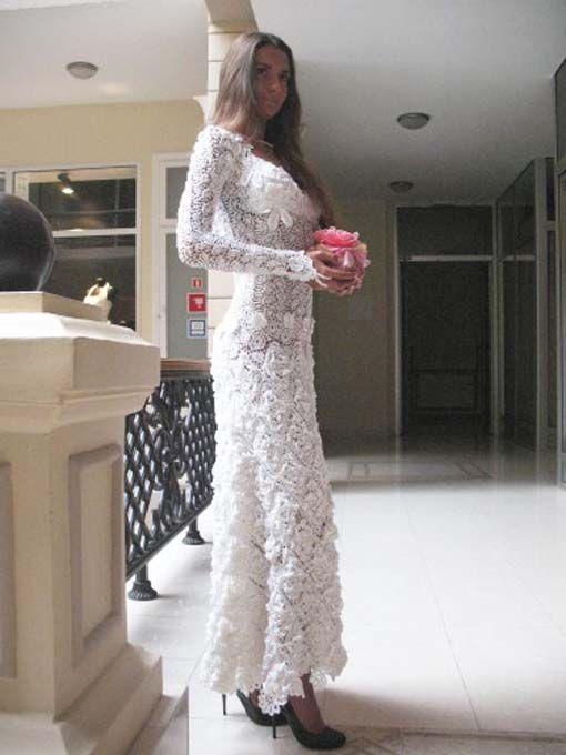 17 Best ideas about Crochet Wedding Dresses on Pinterest Crochet wedding dr...
