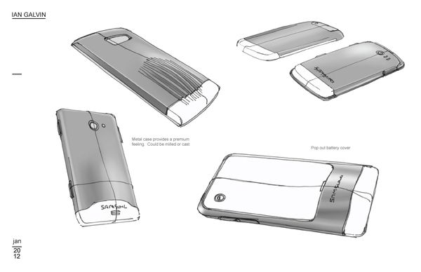 Mobile Device Process work by IAN GALVIN, via Behance