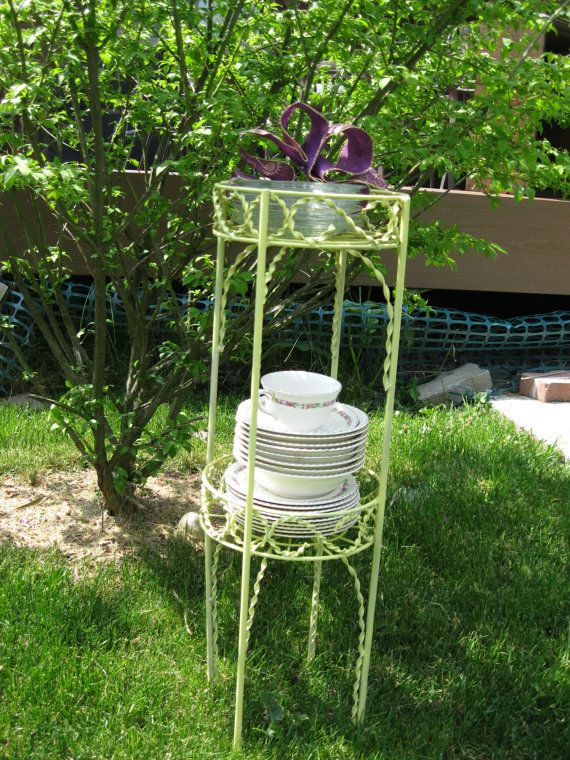The Devonshire Dessert stand/plant by VictorianRehabDesign on Etsy, $42.00  plant stand
