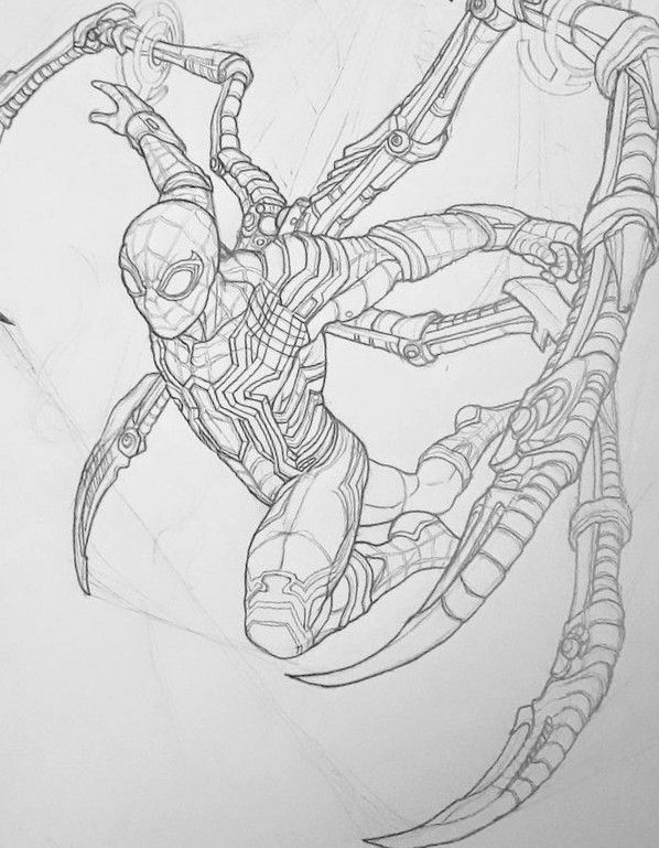 Iron Spider Spider Drawing Avengers Drawings Spiderman Drawing