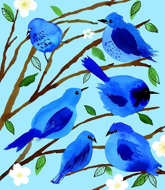 Blue Birds | Margaret Berg Art & Illustration