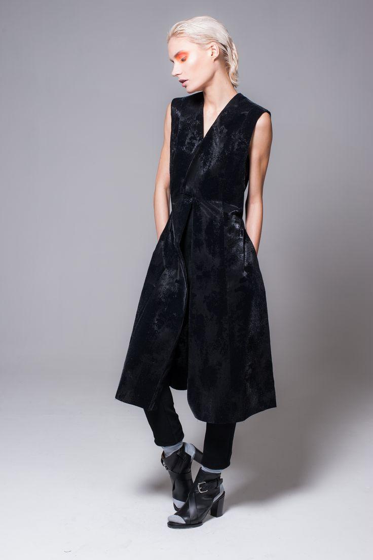 Black Waistcoat / Dress   Alchimionek   NOT JUST A LABEL