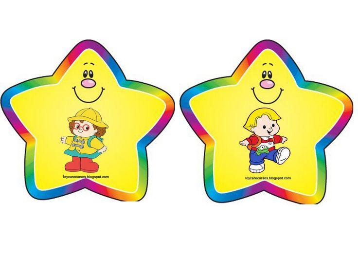 Gafetes para ni os de preescolar buscar con google for Sticker decorativos para ninos