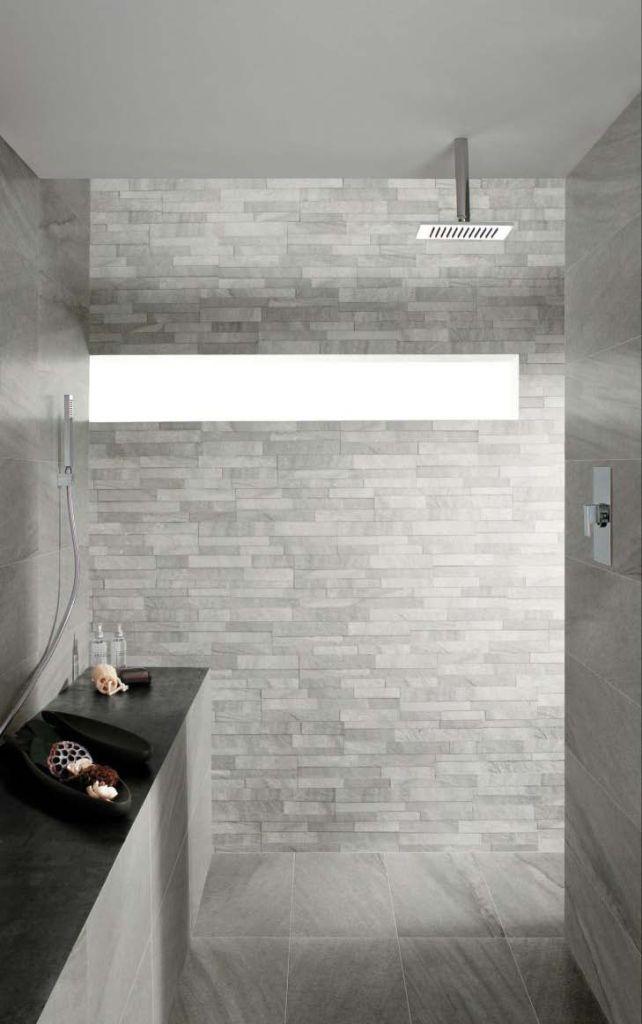 Stockholm paistrelle effetto pietra lysgrau 30x60 realizzazione rivestimento bagno la - Costo realizzazione bagno ...