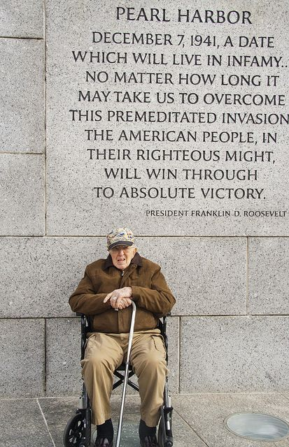 World War II Memorial in Washington DC ~  A Proud American Veteran of Pearl Harbor
