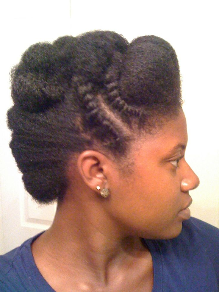 Does Natural Hair Drive Men Away: IG: Authentically.b AuthenticallyB.com Natural Hair Up Do