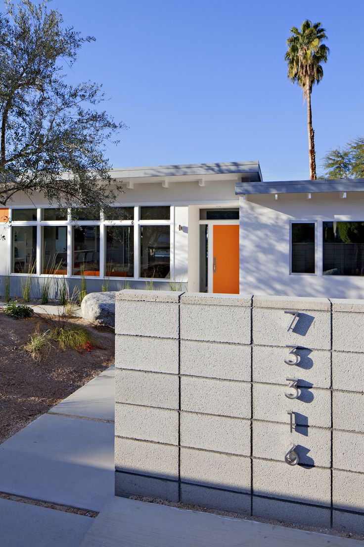 midcentury modern homes | South Palm Desert Mid-Century Modern Home Expanded, Transformed Into ...