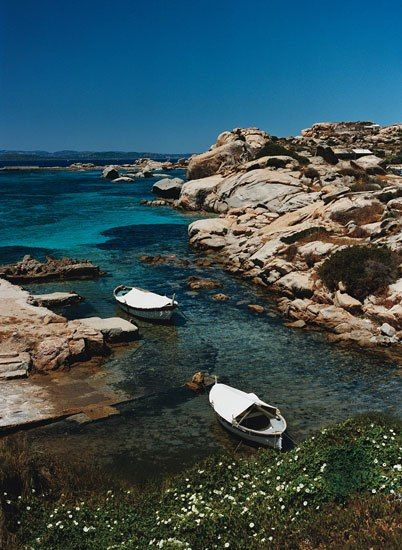 A typical cove in the Maddalena Archipelago, Sardinia's first national park
