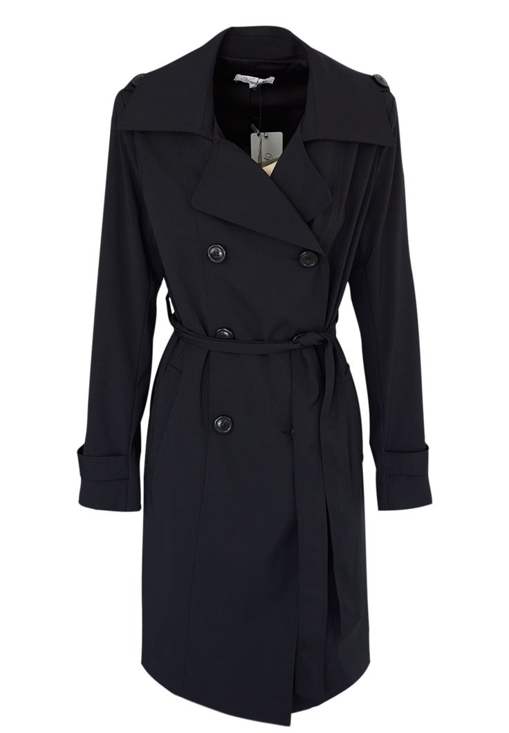 Very Very - Trench Coat In Black