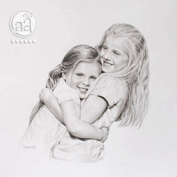 Custom+Pencil+Portrait++handmade+pencil+drawing+from+by+artsyants,+$98.00