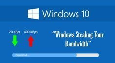 Sadly, Windows 10 Is Stealing Your Bandwidth 'By Default' — Disable It Immediately | Sunday, August 02, 2015 | Swati Khandelwal