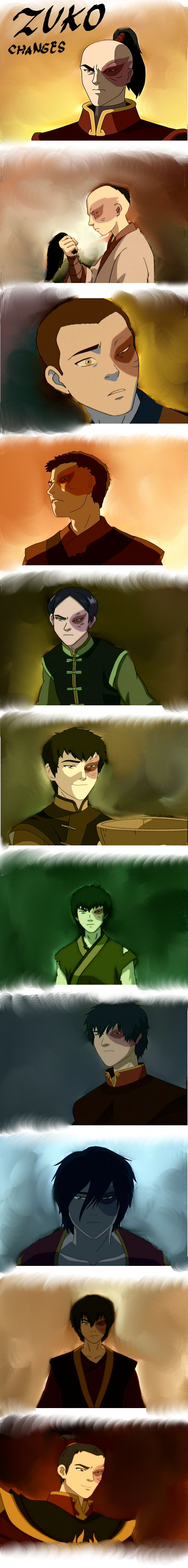 Zuko Changes: proof that your hair truly DOES matter>>> I think that it's nice how he smiles at the end