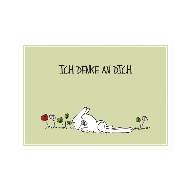 "Postkarte Hase ""Ich denke an Dich"""