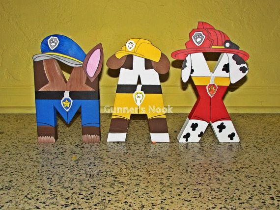 PAW Patrol Character Letter Art by GunnersNook on Etsy