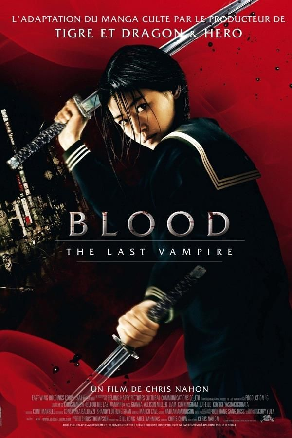 Blood: The Last Vampire    Support: BluRay 1080    Directeurs: Chris Nahon    Année: 2009 - Genre: Action / Aventure / Horreur / Science-Fiction / Thriller - Durée: 99 m.    Pays: Japan / Hong Kong / China / France - Langues: Français    Acteurs: Allison Miller, Jun Ji-hyun, Koyuki, Liam Cunningham, J. J. Feild, Yasuaki Kurata, Larry Lamb, Andrew Pleavin, Michael Byrne, Colin Salmon, Constantine Gregory, Joey Anaya, Khary Payton, Masiela Lusha, Ailish O'Connor