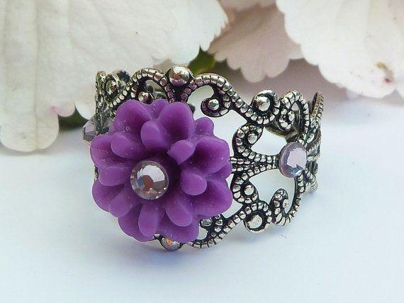 Filigraner Ring Blütenzauber von Schmucktruhe auf Etsy, €12.50