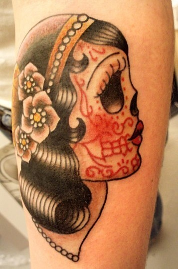 1000 images about sugar skull tattoos on pinterest for Mexican girl tattoos