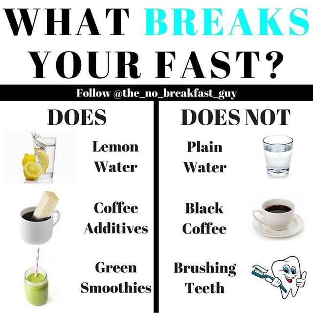 """🔥WHAT BREAKS YOUR FAST?🔥 - 🦄This is a question I am receiving more and more in the DM's and so I though it was about time to address what breaks your fast and what does not. - 🤖As the name would suggest, """"break-fast"""" is when you are going from a fasted state to a fed state. While that might seem very straight forward, it can be confusing as to what actually breaks your fast. - ☘️The #infographic above lists a few do's and do nots as to what breaks your fast. There are of course many…"""
