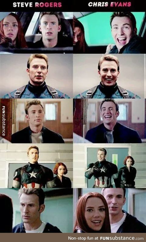 steve rogers vs. chris evans